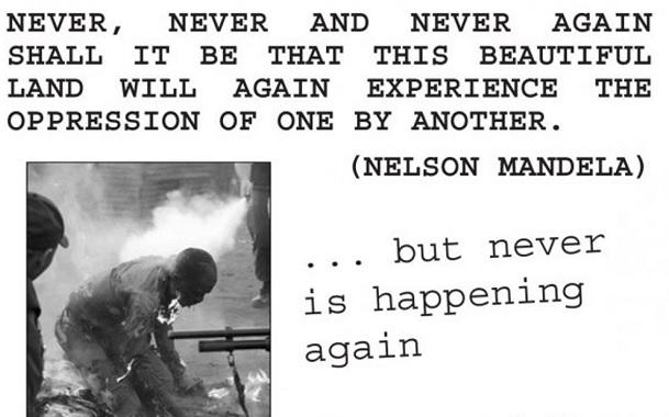 Never again Xenophobia