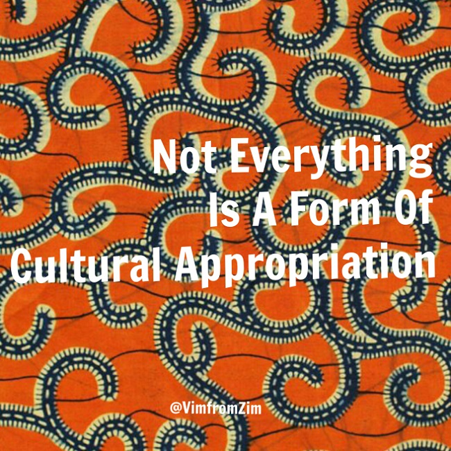 Cultural Appropriation - VimfromZim