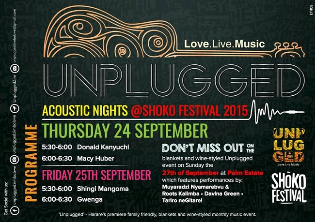 Unplugged Zimbabwe - September Flyer