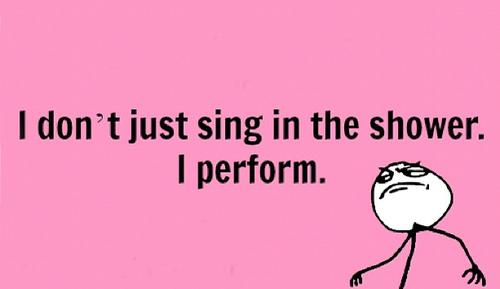 I perform