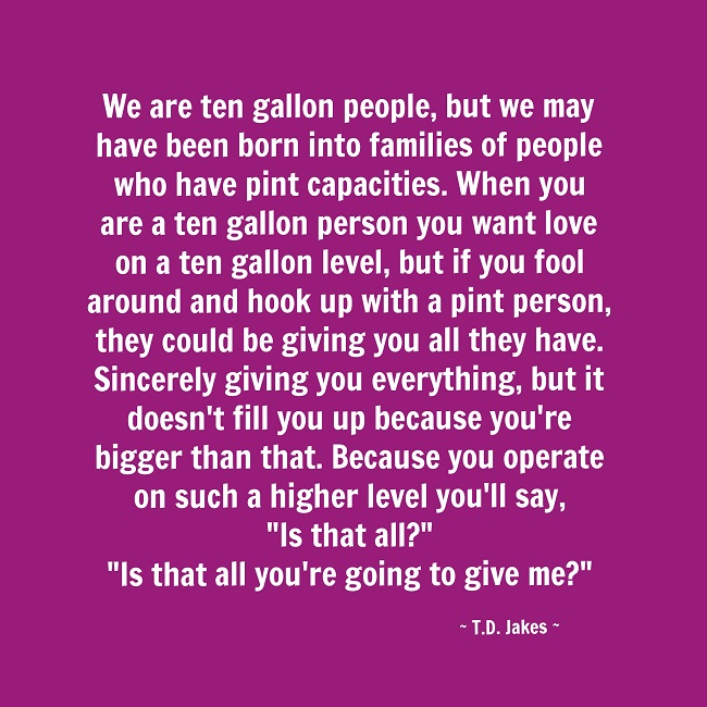 Ten Gallon People - TD Jakes